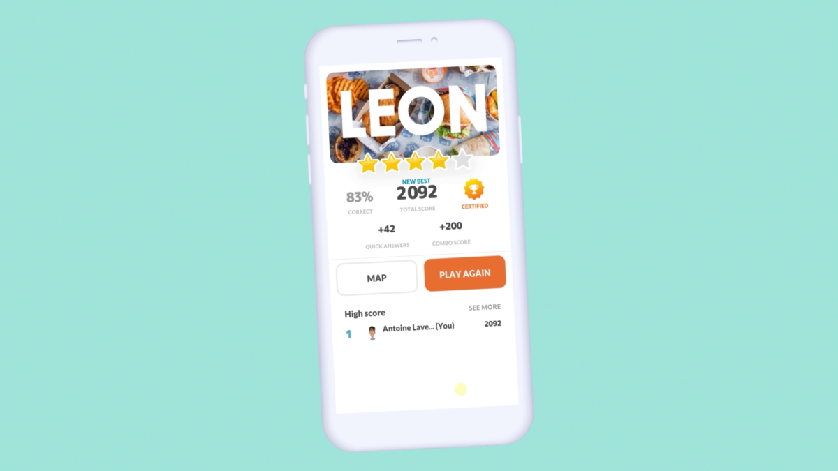 Mobile gamified training - LEON